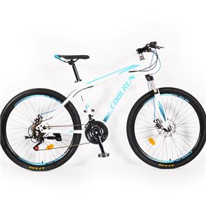 27,5-Zoll-Scheibenbremsen High Carbon Steel Frame 21 Gear Blue Mountainbikes