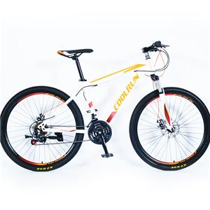 26 Inch F&R Disc Brakes Steel Frame 21 Speed Orange Colorful Mountain Bicycles
