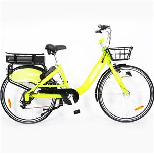 7 Speed V Brakes 350W 36V 10Ah Sharing Electric Bike