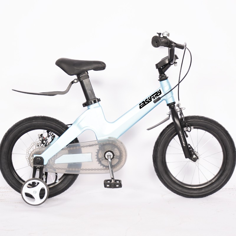 Disc Brake With Chain Cover Light Blue Children Bike