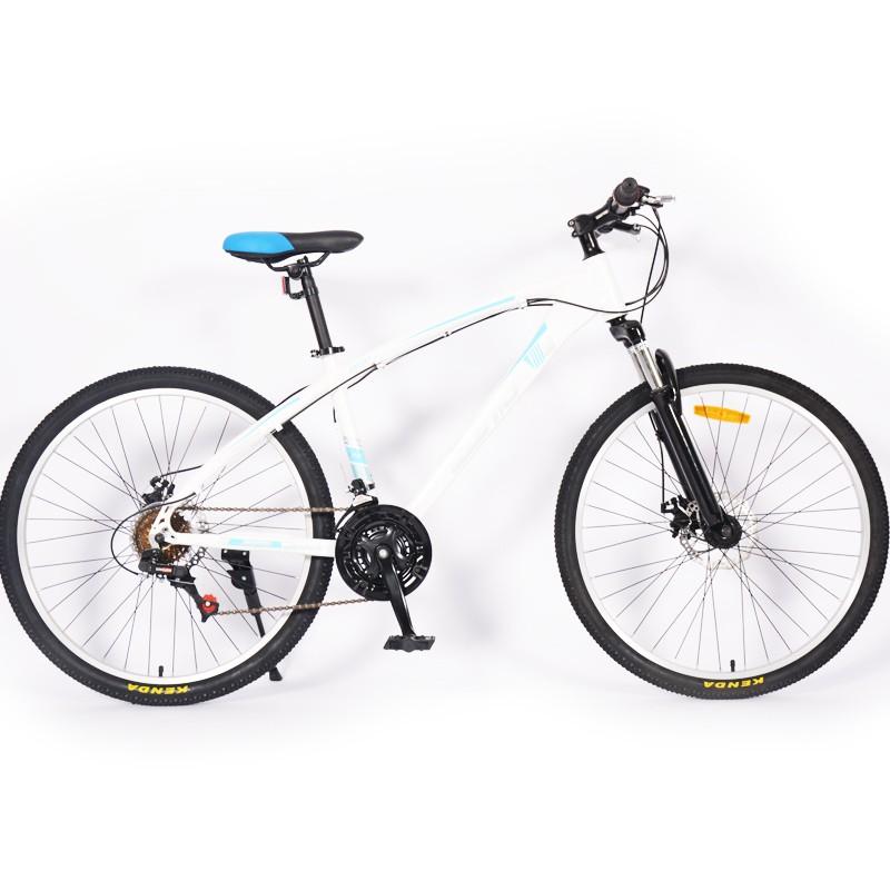 Frâne cu disc 21 Engleză cu bicicletă de munte cu suspensie albă