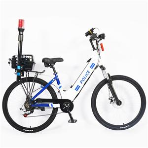 Bicicletă electrică montană de poliție de 7 viteze