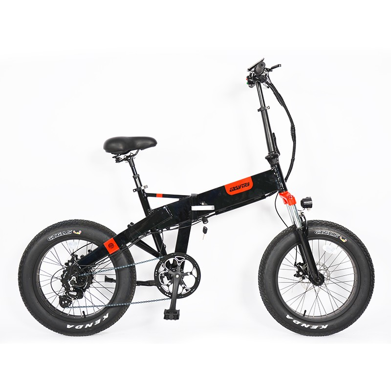 China 2020 snow customized 250W/500W/750W 48V fat tire ebike folding 20inch electric bike bicycle