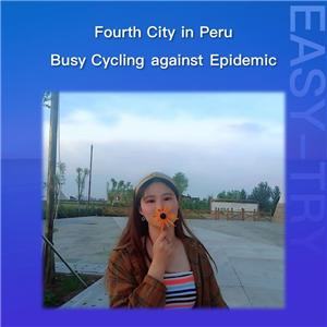 Vierte Stadt in Peru, beschäftigt Radfahren gegen Epidemie