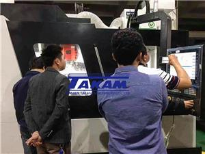 Pakistan dealer came to Takam Machinery factory for inspection before shipment