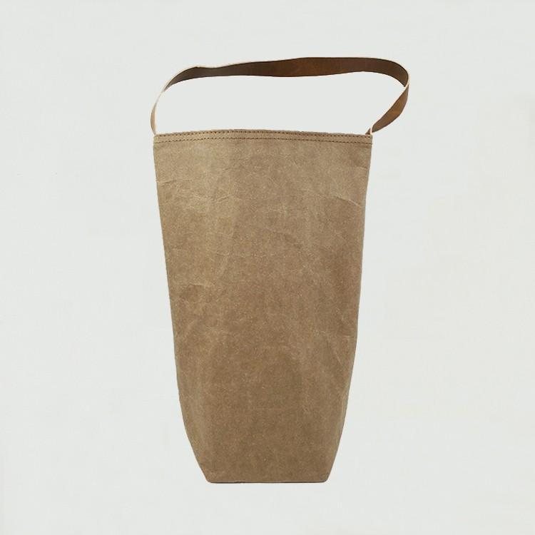قابل للغسل ورق الكرافت حقيبة حمل النبيذ