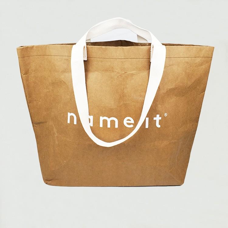 حقيبة حمل ورقة براون قابل للغسل