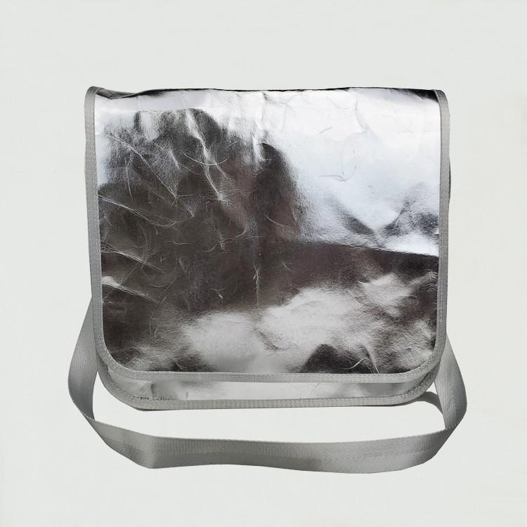 قابل للغسل كرافت ورقة احباط الفضة حقيبة كروسبودي حقيبة رسول