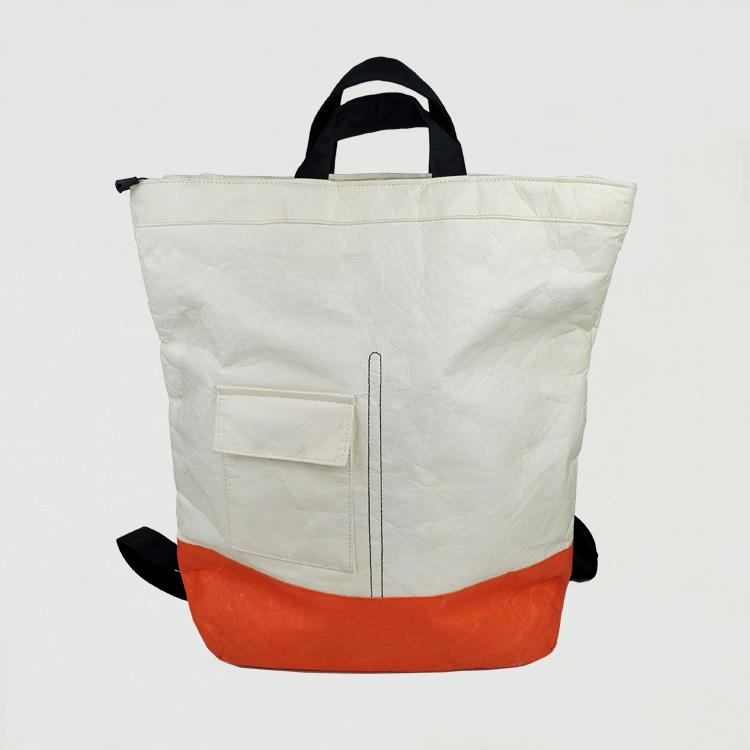 Tyvek Dupont Paper Backpack حقيبة كتف خفيفة الوزن مقاومة للماء