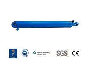Paint Steel Hydraulic Pusher Cylinder