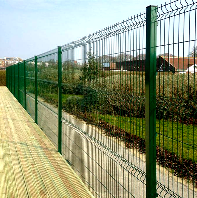 5mm Wire Curved 3D Fold Fence Panel
