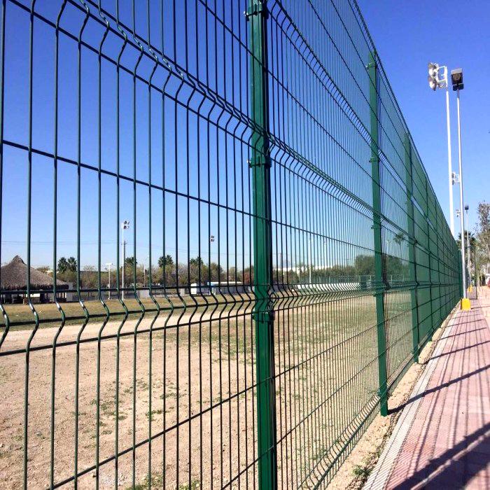 2m Curvy Wire Mesh Fence