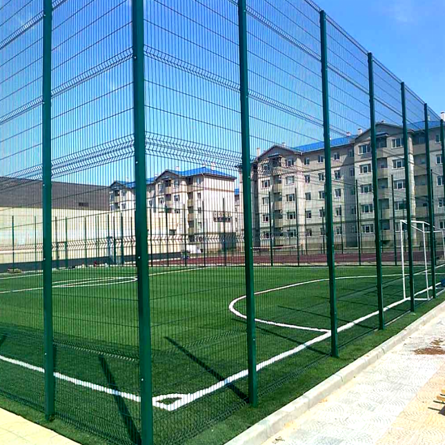 Heigh 6m Basketball Court 3d Curved Panels Fence