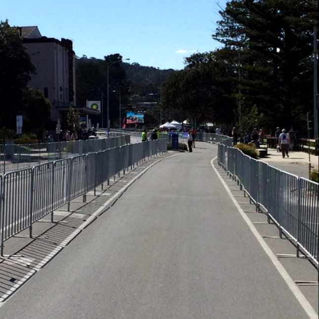 Galvanized Steel Bicycle-Barricade 6.5ft
