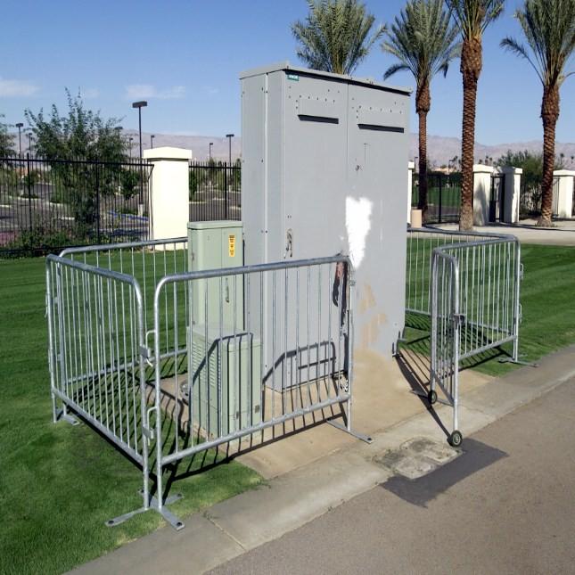 8ft galvanized Bike Rack Barricade