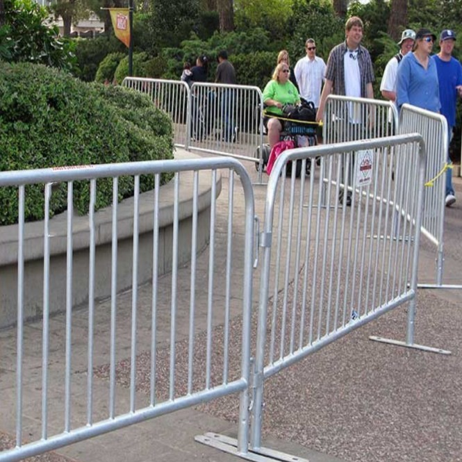 8ft Pedestrian Barriers With Galvanized Finish