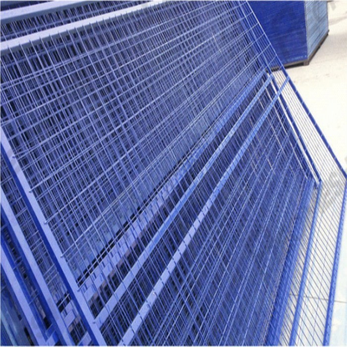 2.9mm Movable Temp Fence Panel With Blue