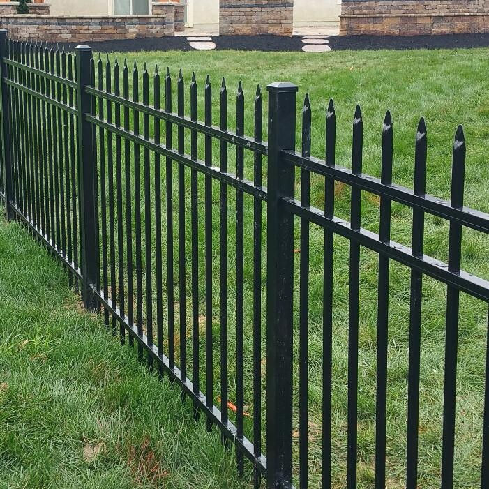 Wrought Iron Picket Fence Panel