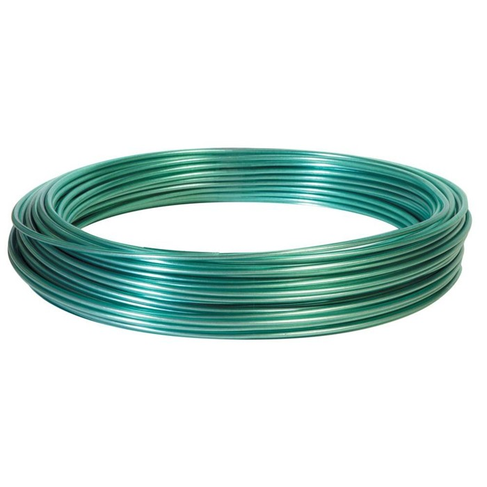PVC Coated Green Electro Galvanized 1.7mm Dia Wire