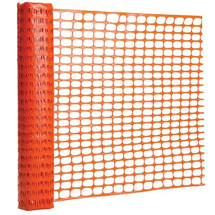 30m Orange Plastic Barrier Fence