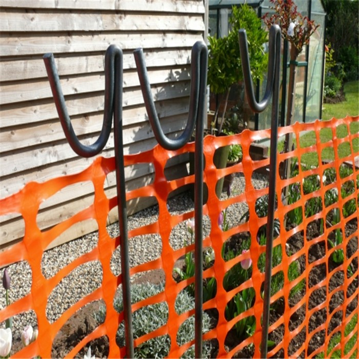 Orange Barrier Fence Net With Steel Road Pins