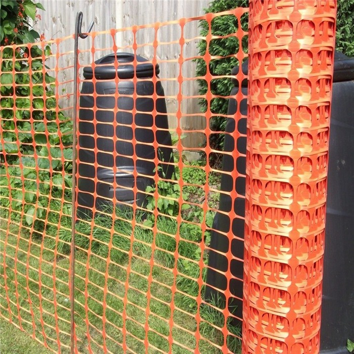 Orange Barrier Mesh With Pins