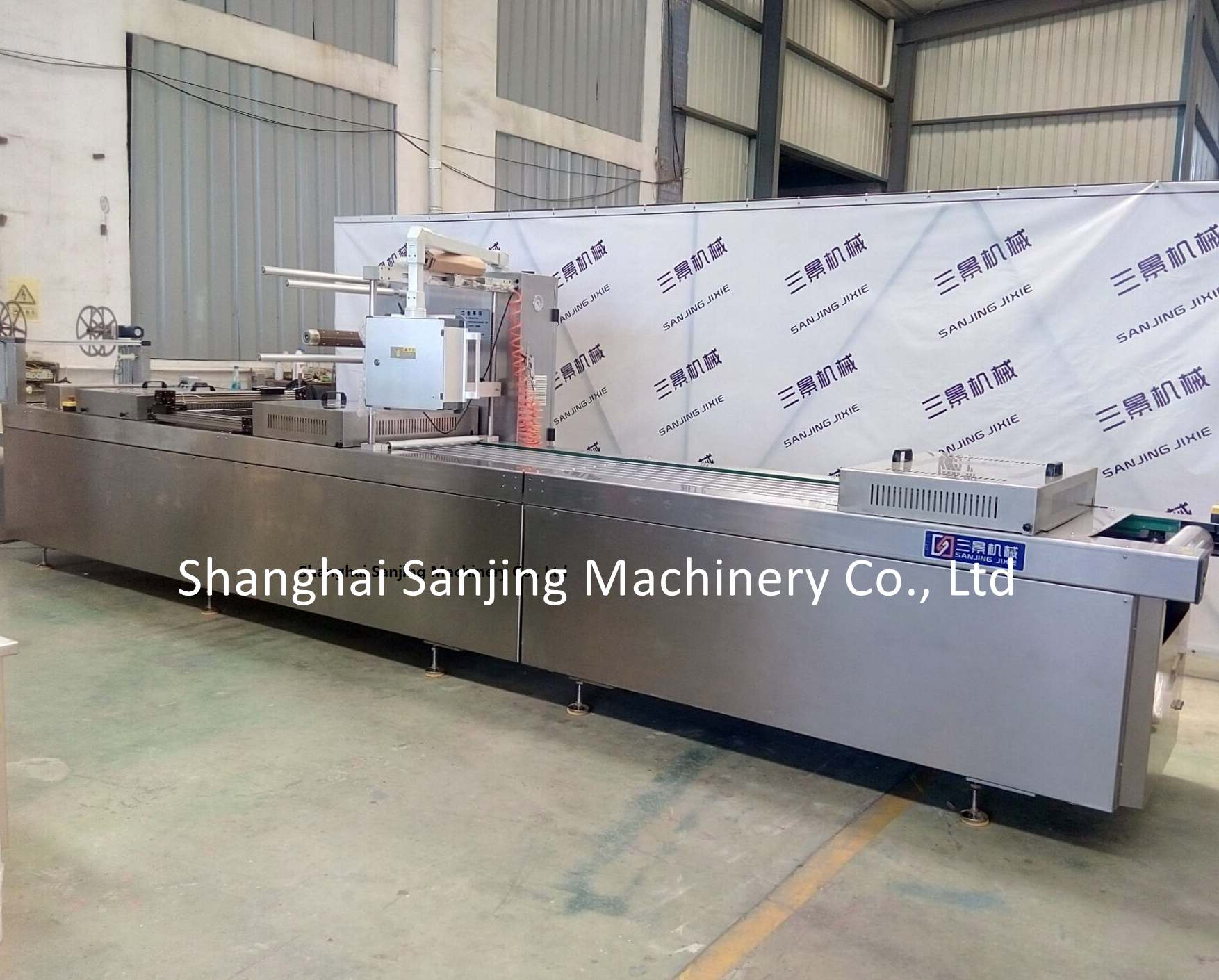Salmon thermoforming packaging machine
