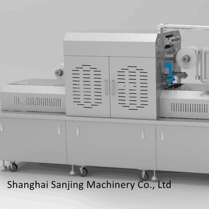 Máquina de embalagem a vácuo de salmão fatiado