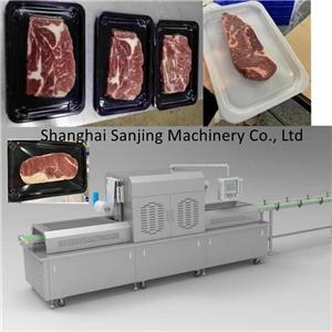 Macchina per l'imballaggio della pelle sottovuoto per bistecca