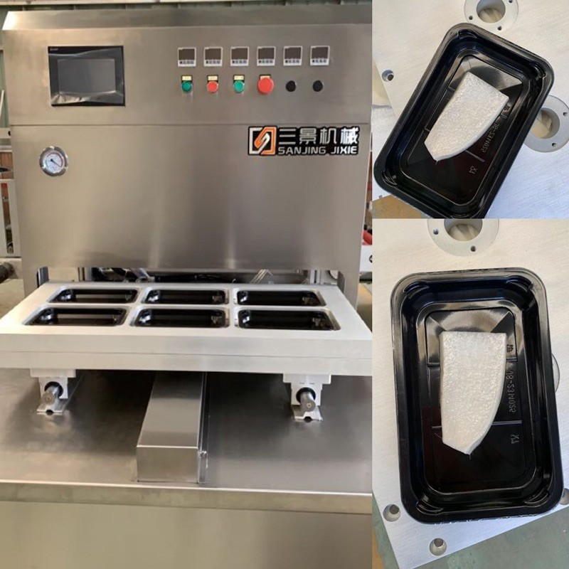 Customized Vacuum Skin Packing Machine for Seafoods Customer