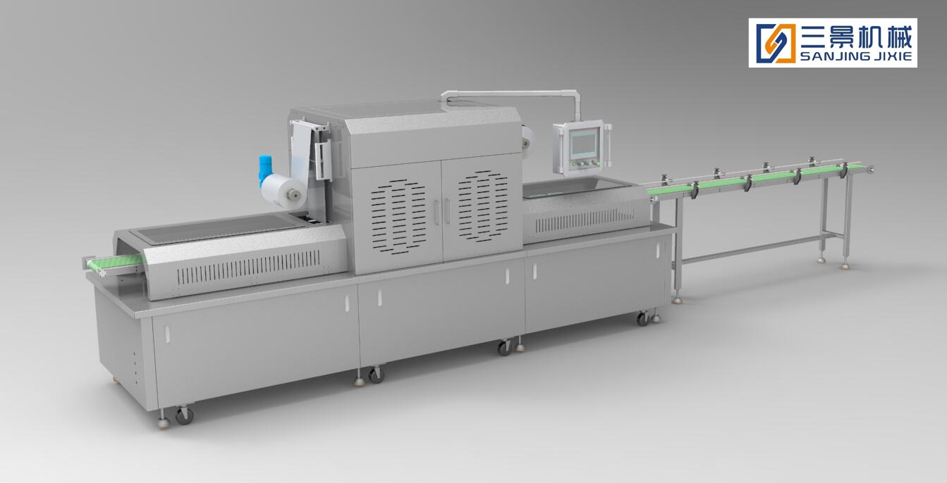Application in food industry-Vacuum skin packaging machine