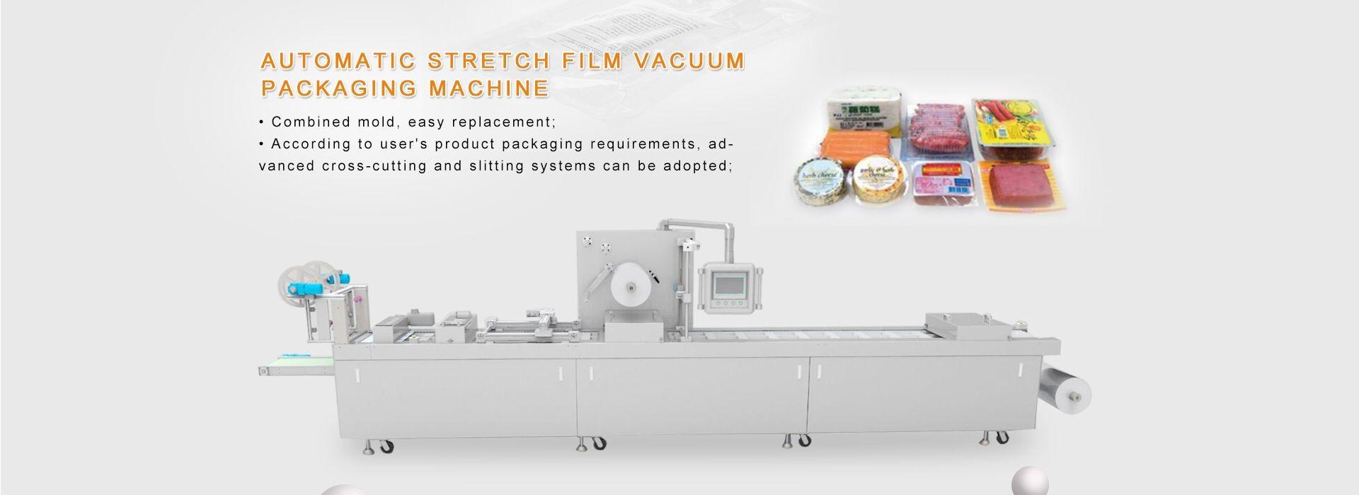 Stretch film vacuum packaging machine