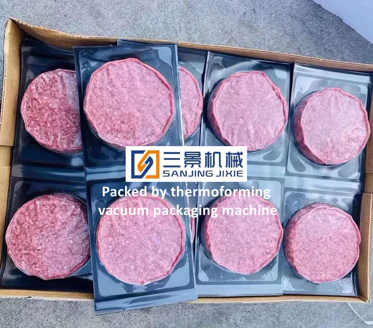 쇠고기 스테이크 연속 열 성형 진공 포장 기계