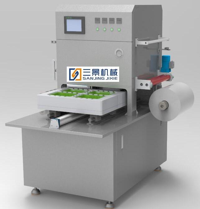 Halbautomatische Verpackungsmaschine mit modifizierter Atmosphäre