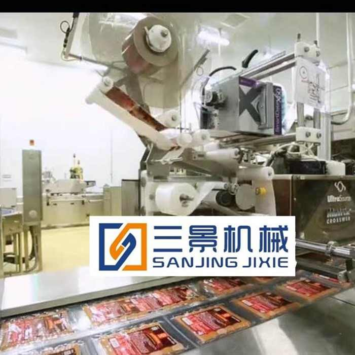 thermoforming vacuum packaging machine and labeling machine