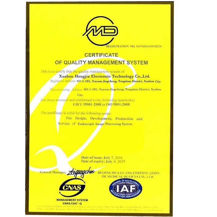 Certificat ISO9001