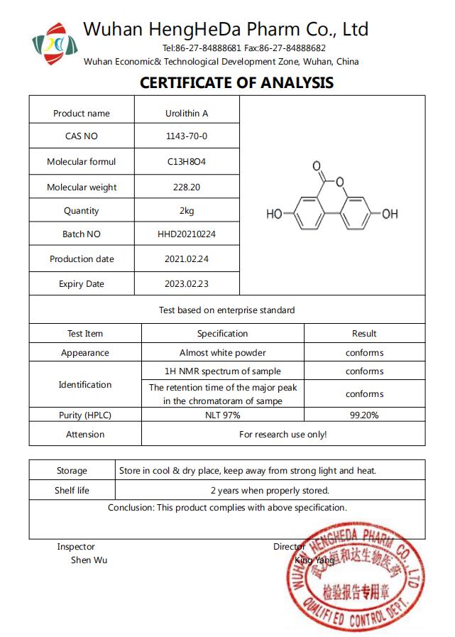 99% Urolithin A CAS 1143-70-0