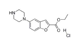 Wuhan HHD 5-(1-piperazinyl)-2-Benzofurancarboxylic Acid Ethyl Ester Monohydrochloride /vilazodone Intermediate CAS 765935-67-9