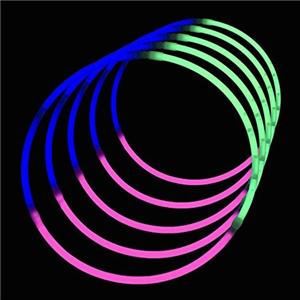 22 Inch Tri-color Glow Necklace