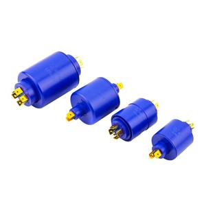 Pin Insertion Slip Ring 2-8 Circuits Electric Rotating Connector Mercury Free