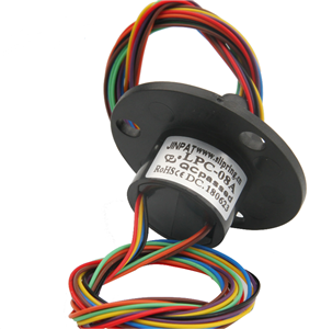8 Circuits Compact Capsule Slip Ring Routing 2A Per Wire with High Working Speed for Motor Equipment