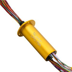 Multi-Circuits Ethernet Slip Ring Small Size Low Contact Resistance Transmitting Dignal Signals For Security Monitoring