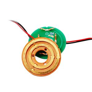 2 Circuits Through Bore Pancake Slip Ring Transferring Signal