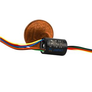 mini slip ring van 8 Circuits met 48V Werken Voltage voor Mini elektrische apparaten