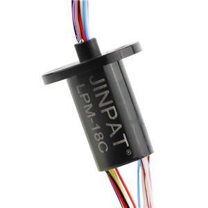 miniatuur slip ringen 18 Circuits Compact Geïntegreerde Ethernet-Slip Ring Kan gebruikt worden in medische apparatuur Slip ring contact