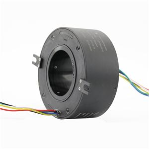6 Circuits 80mm Large Hole and Aluminum Alloy Housing hollow bore slip ring