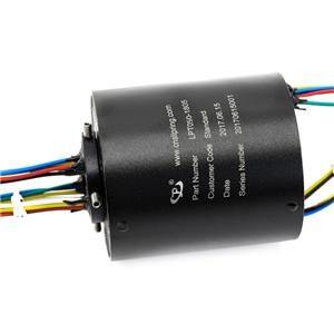 ac slip ring motor 18 Wires 50Hz Dielectric Strength and Aluminum Alloy 60 mmthrough bore slip ring