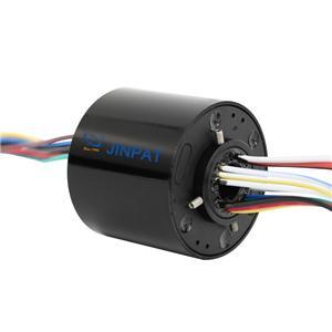 Connecteur électrique rotatif supplémentaire longue durée de vie diamètre intérieur longueur de diamètre externe en option 12 circuit 10A avec bague collectrice creuse
