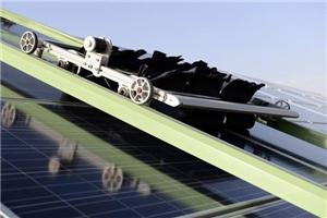 The Latest Application of JINPAT Slip Ring in Solar Panel Cleaning Robot