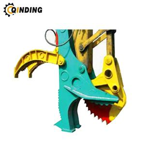 Mechanical Type Clamp Alligator Wood Saw Cutter For Liebherr Excavator